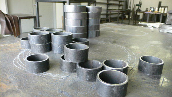 Plumbers pipe, cut and ready to be pieced together.