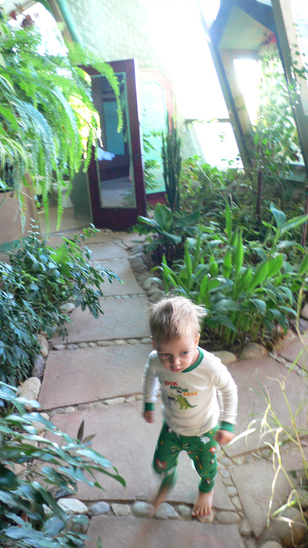 Silas running along the path inside The Phoenix