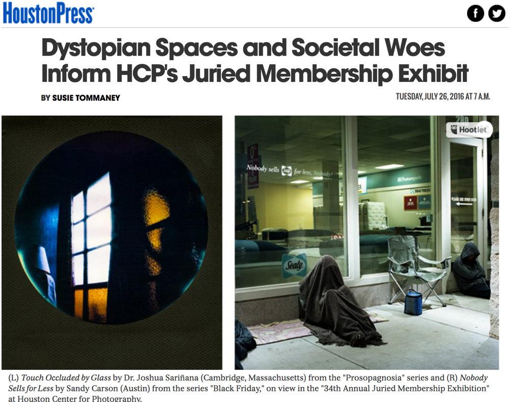 Houston Press - Houston Center for Photography Member's Exhibition