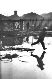 Behind Gare Saint-Lazare by Henri Cartier-Bresson. An example of intent