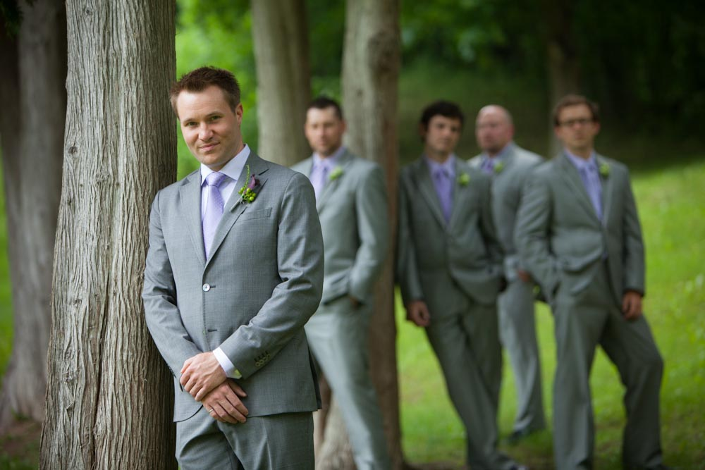 Groom and groomsmen in Fonthill