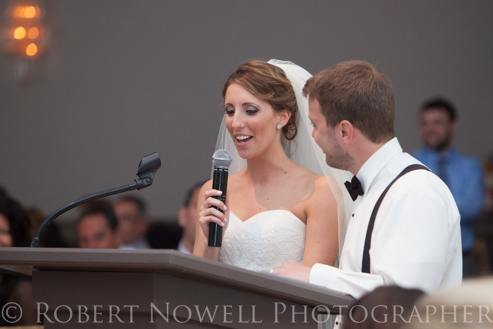 bride and groom speech, wedding reception