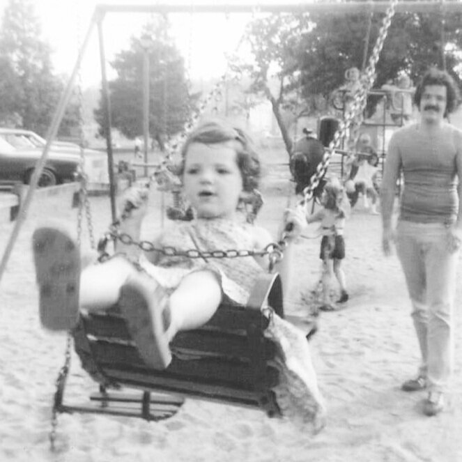 Swings with dad