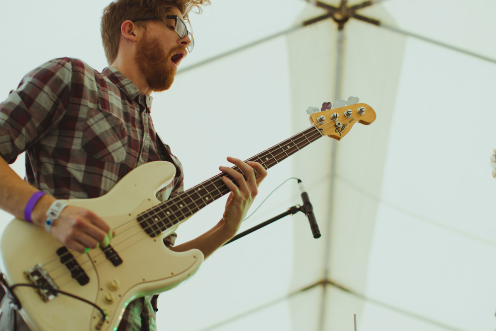 Wild Ones bassist Max Stein laying it down