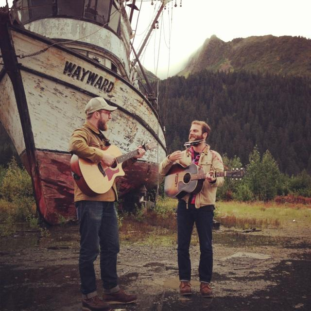 Philippe Bronchtein (Hip Hatchet) and Sean Spellman (Quiet Life) currently touring together in Alaska.