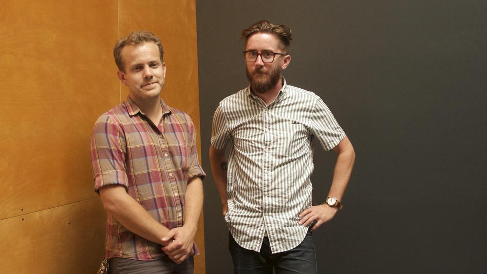 Musician, Kyle Morton (left)and Filmmaker, Matthew Ross (right)