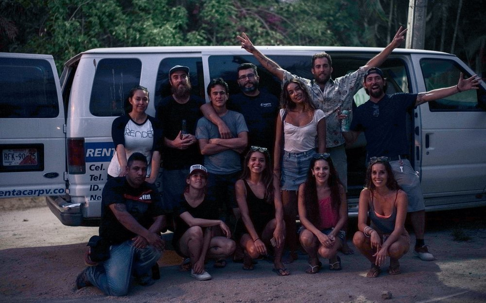 Filming in Mexico with the crew and me.jpg