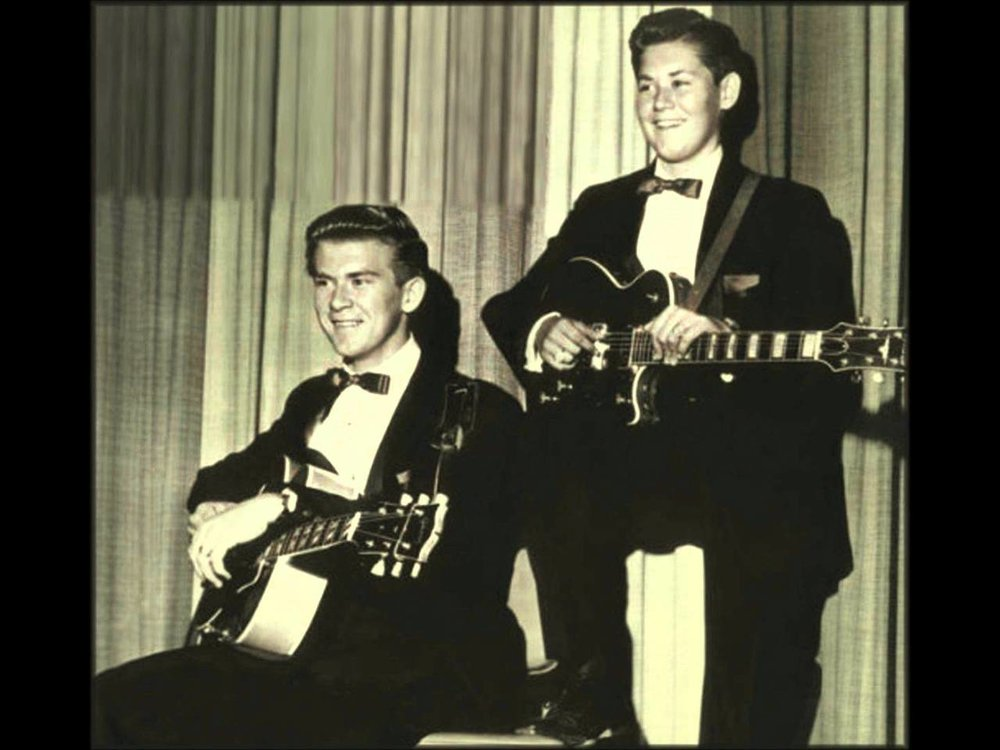 Wayne Newton performing with his brother Jerry.