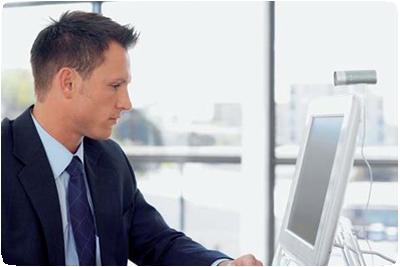 Man preparing on the computer