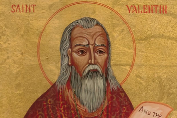 Maybe this is an image of the man, Saint Valentine.