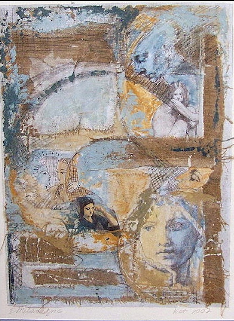 """Kiev 2002,"" Collage on Paper, by Elissa Melaragno"