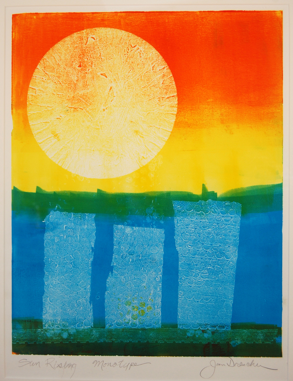 Sun Rising, Monotype (on cover of ISSUE 02)