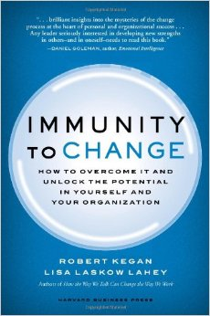 In Immunity to Change, authors Robert Kegan and Lisa Lahey show how our individual beliefs–along with the collective mind-sets in our organizations–combine to create a natural but powerful immunity to change.