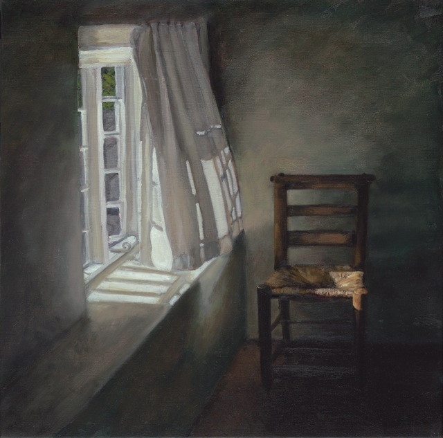 Window - Summer Morning - Dorset  by Fanny Rush Oil on Canvas, 67cm x 67cm