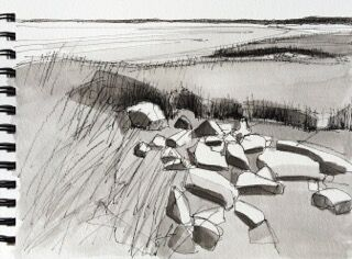 Low Tide Ink Study  by John Rufo