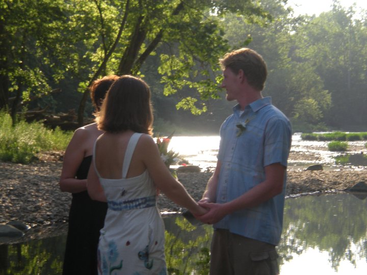 Married in the Olentangy River at High Banks Metro Park in Columbus Ohio.