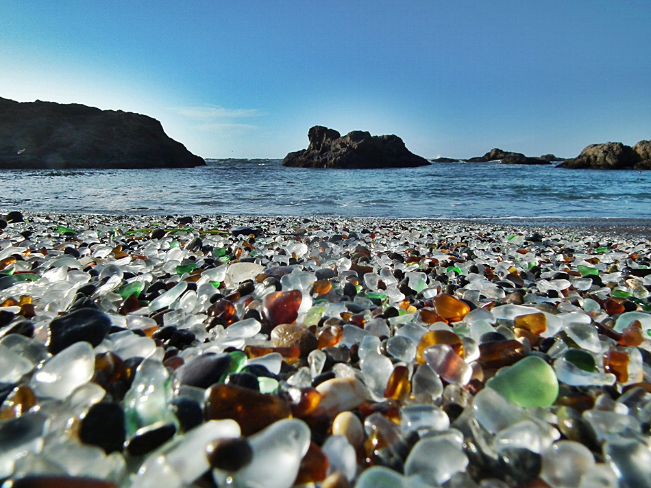 Sea Glass Beach in California.
