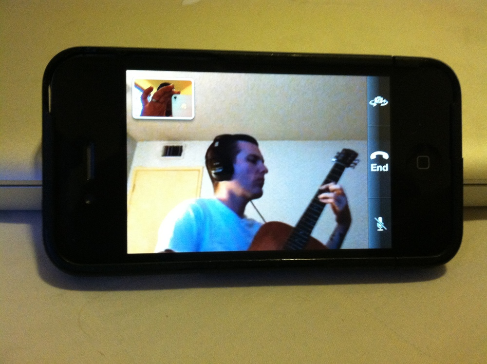 Some aspects of life in this hi tech era  are undeniably awesome - Recording our new single via facetime.