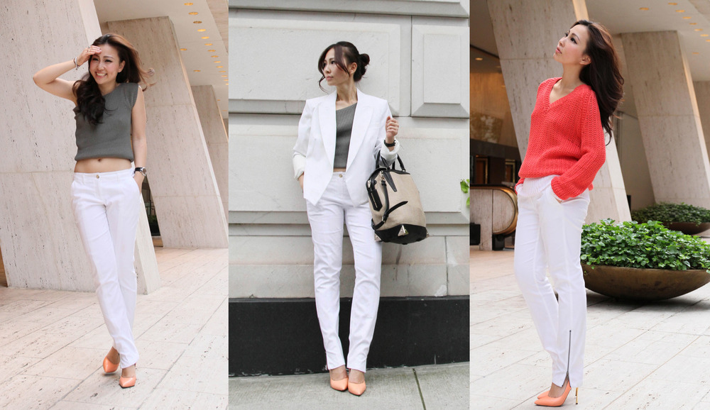 how to wear white pants - Pi Pants