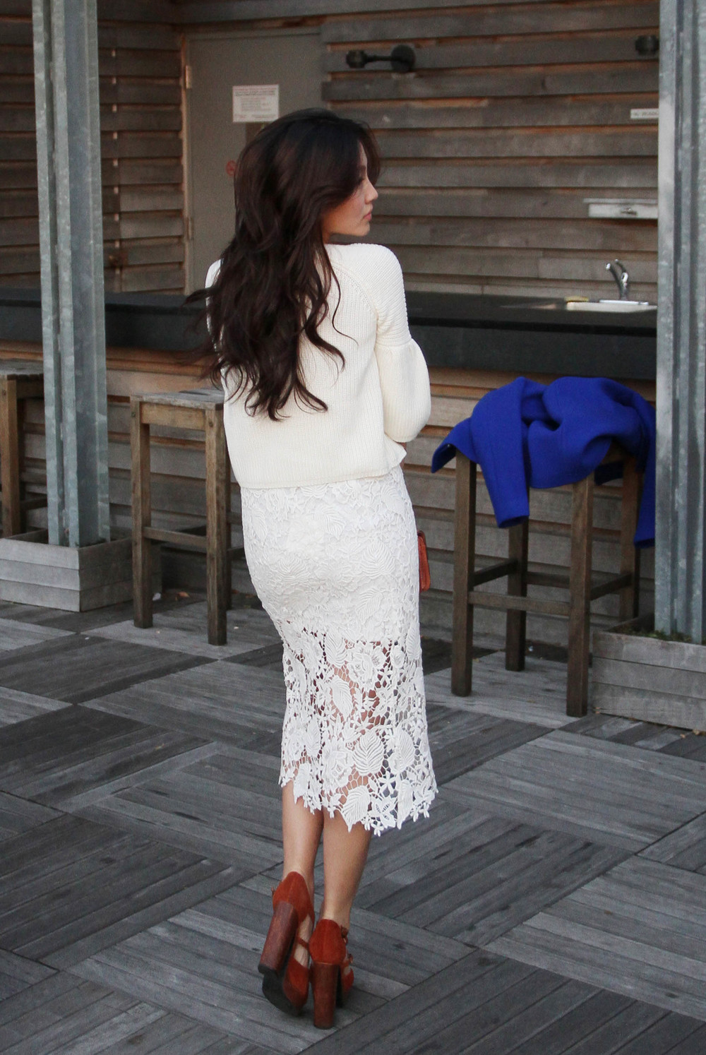 Bell Sleeve white sweater and lacey white skirt .jpg