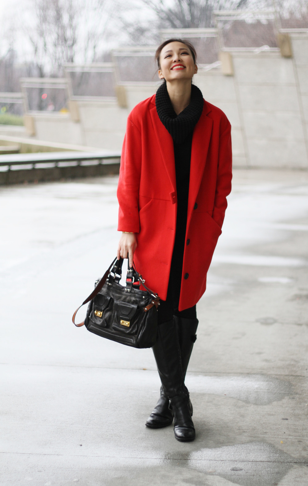 Outfits} Oversized Coats vs. Petite Girls — T-Curate