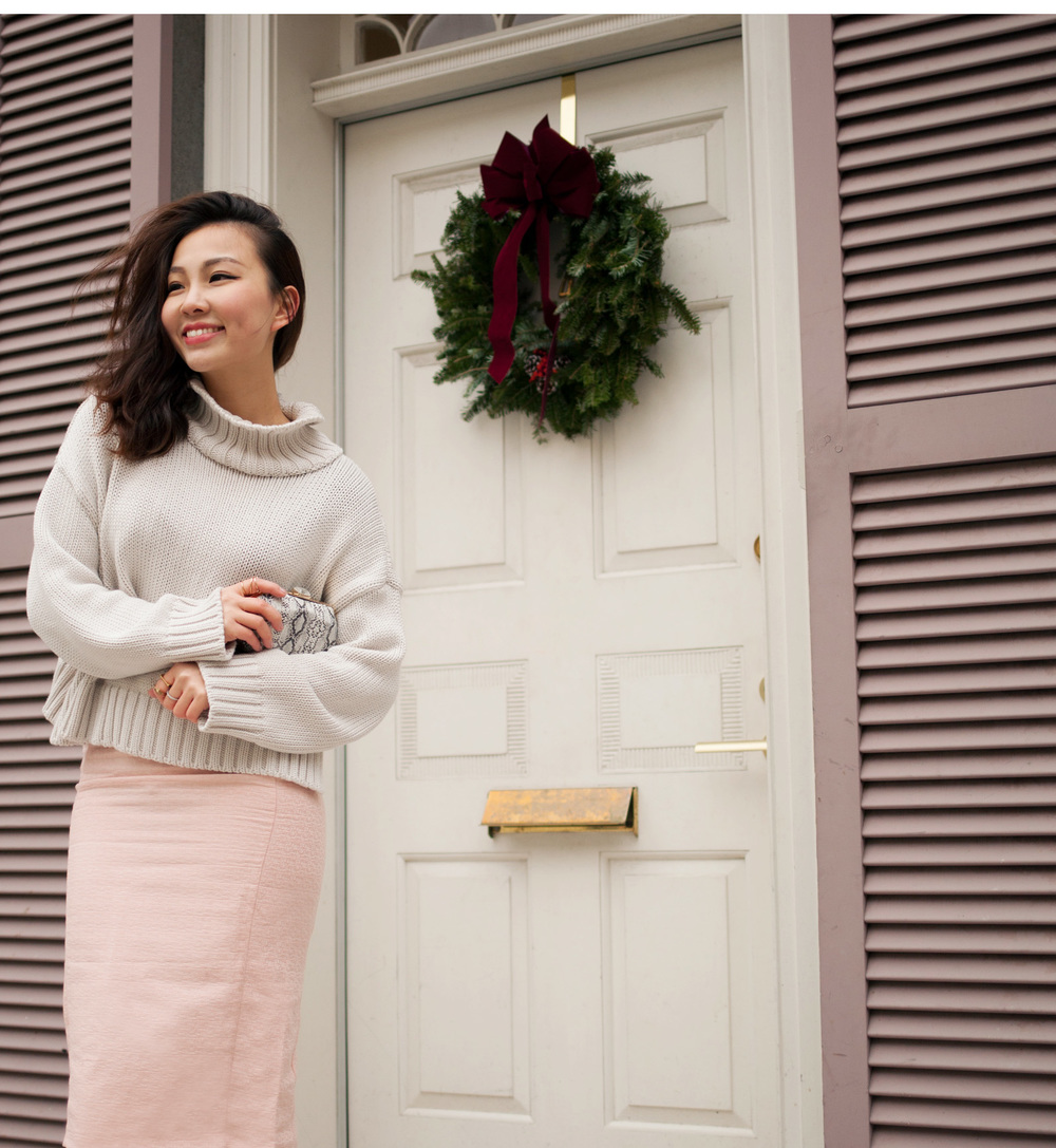 pink pencial skirt and sweater.jpg