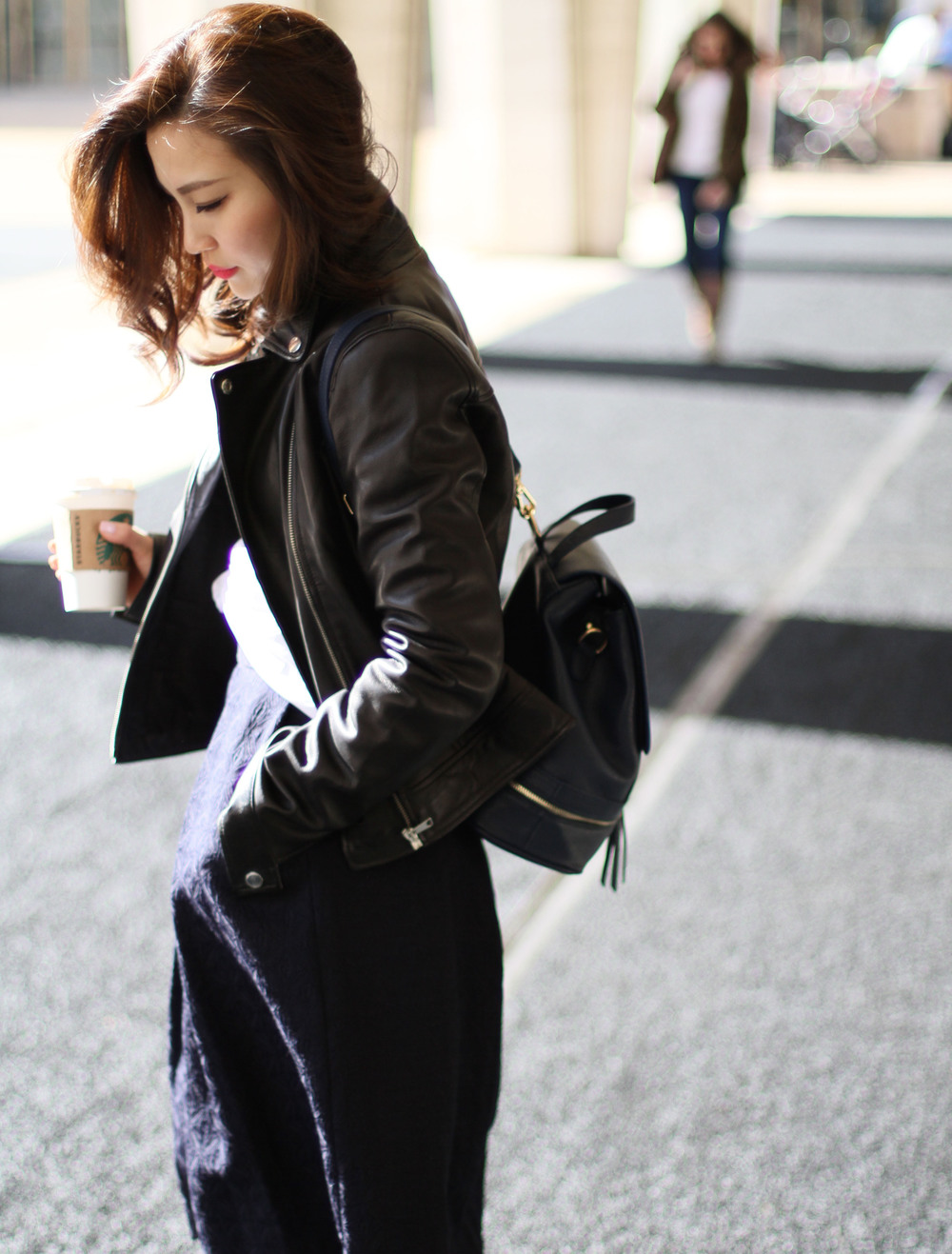 Navy Backpack leather jacket outfit 1.jpg
