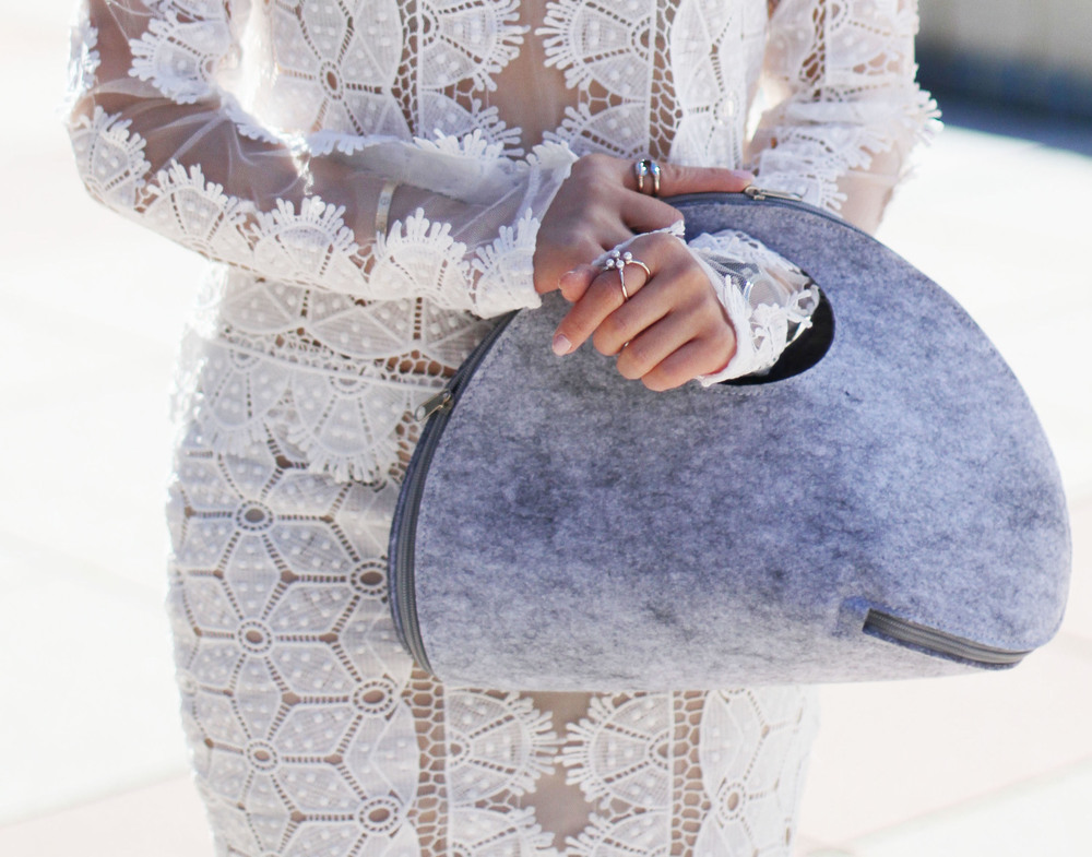 white lace top and skirt with purse.jpg
