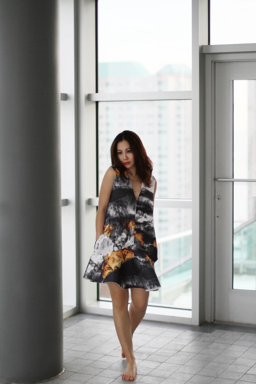 Peplum Hem Shift Dress in Forest Print outfit.jpg