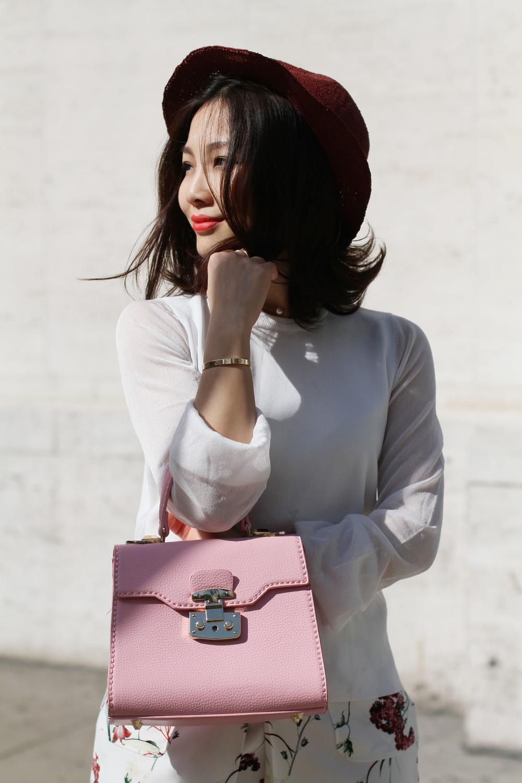 Pink floral outfit pink bag.jpg