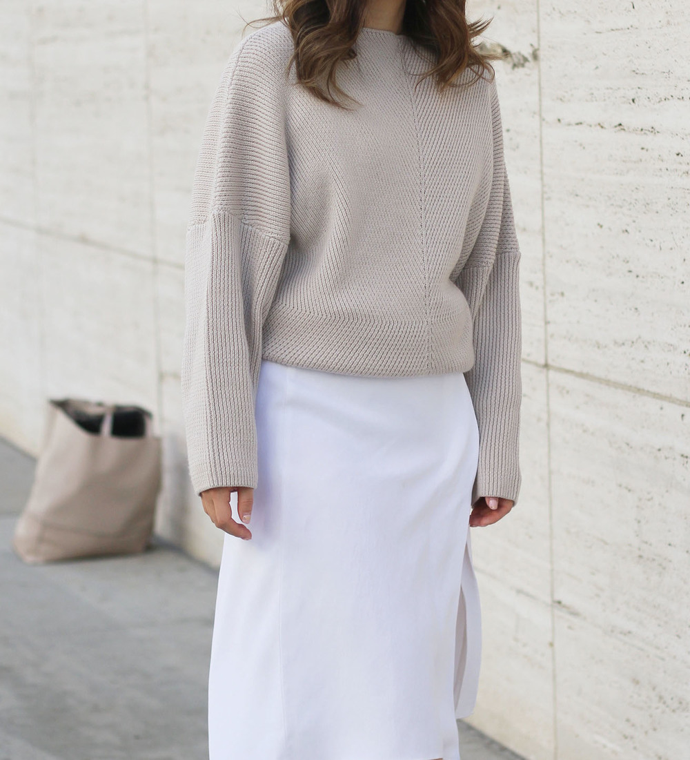 dust pink oversized sweater styling midi skirt.jpg