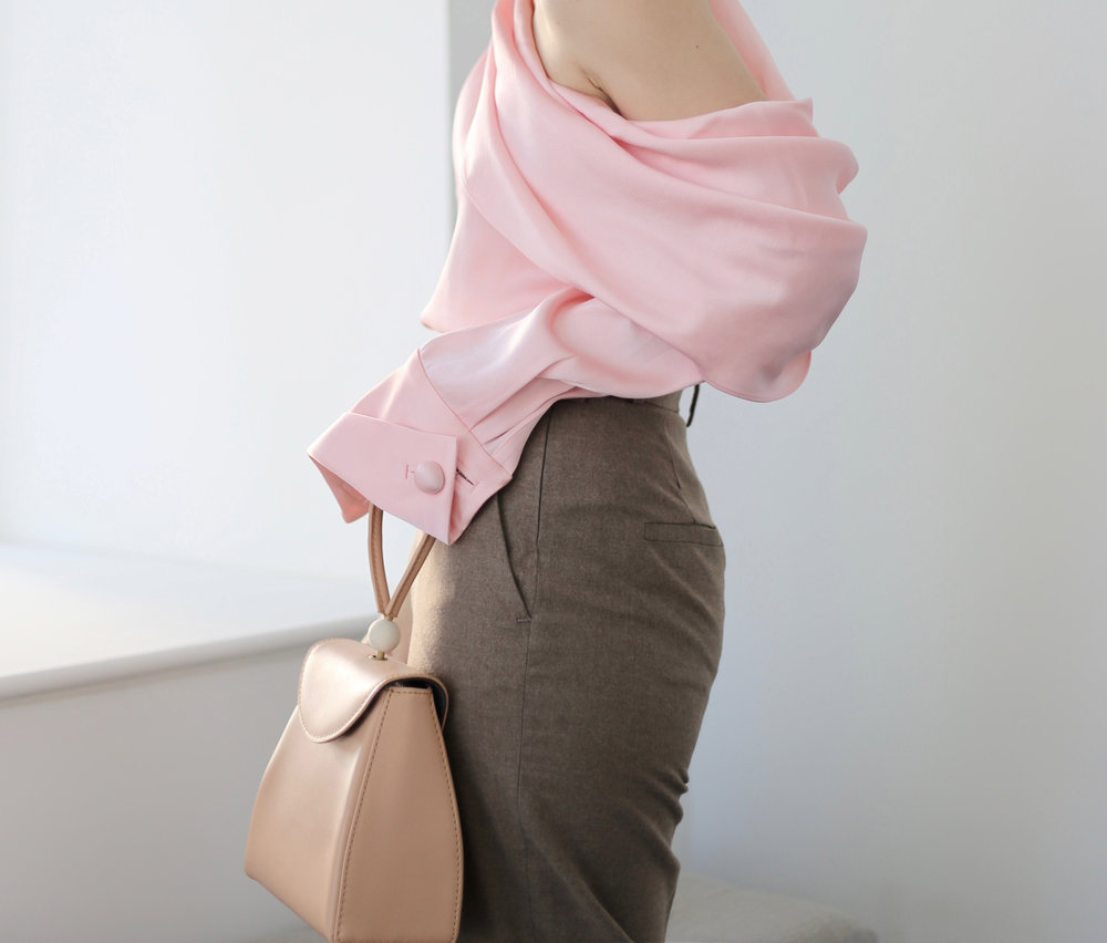 pink satin top fashion blogger.jpg