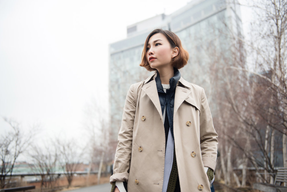 uniqlo khaki trench coat.JPG