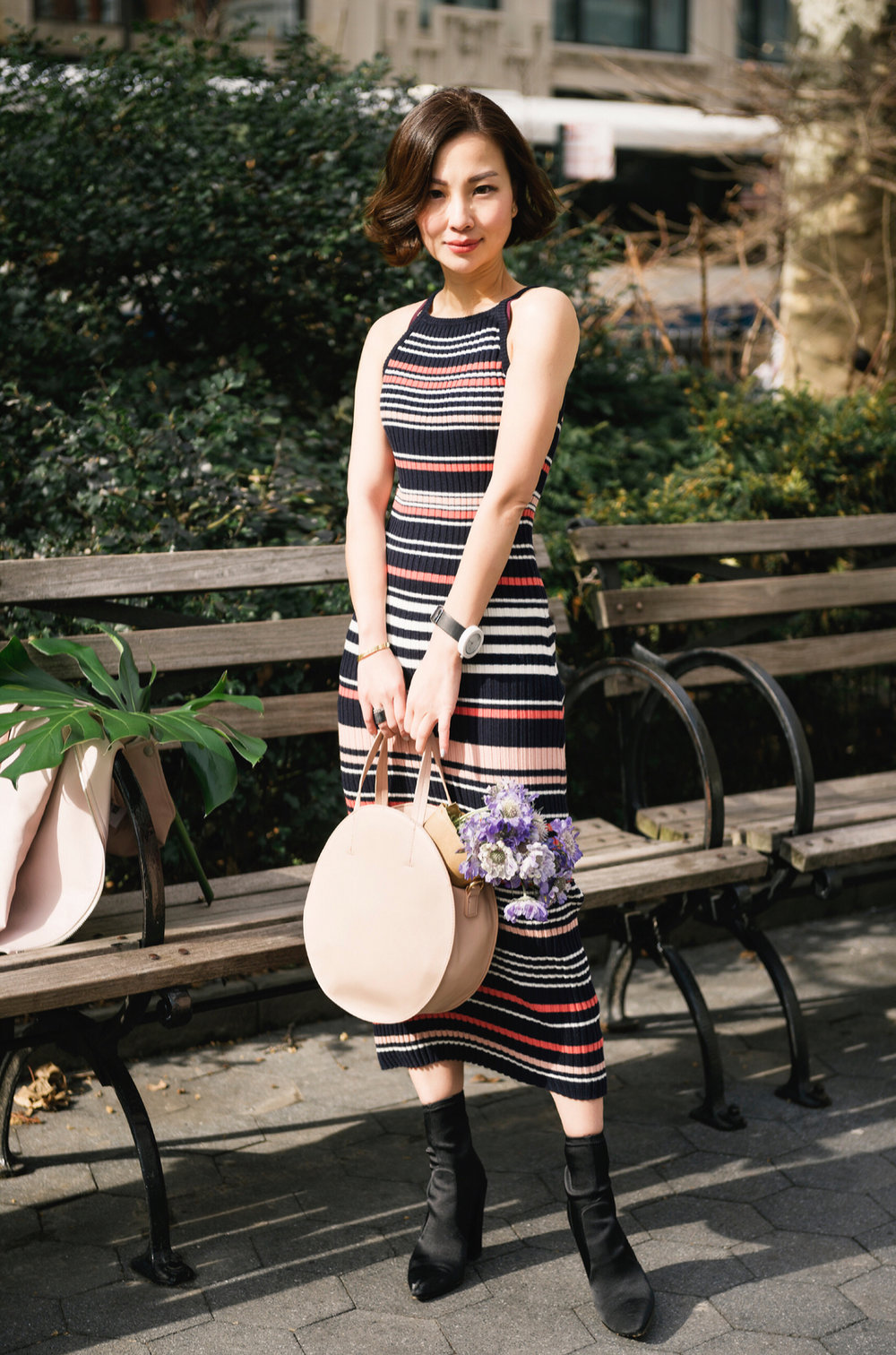 the shopping bag dani striped sweater dress.JPG