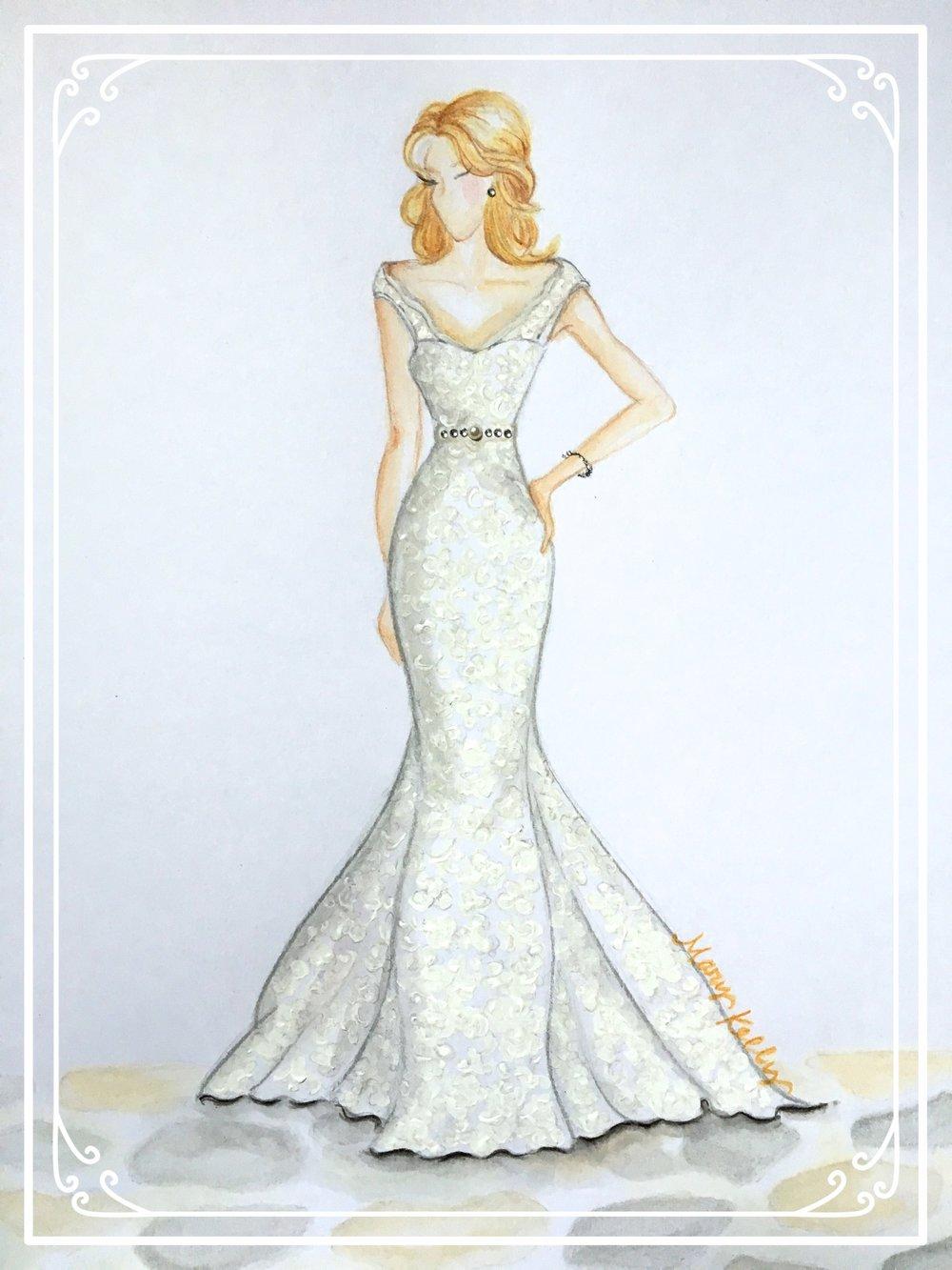mermaid wedding gown, mary kelly designs © 2018