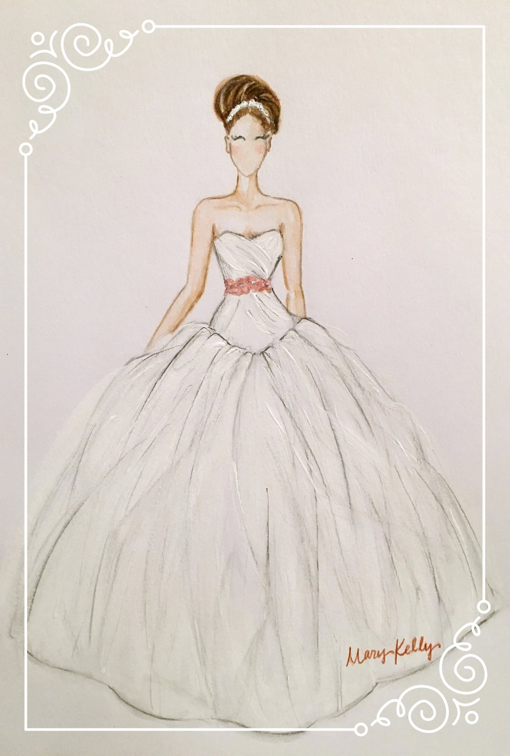 vera wang gown, mary kelly designs ©2017