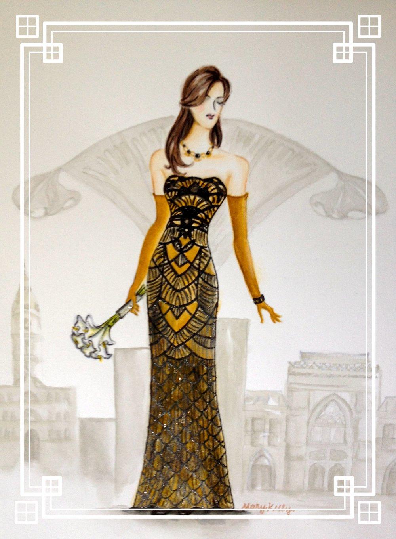 lauren's art deco wedding dress, marykellydesigns ©2018