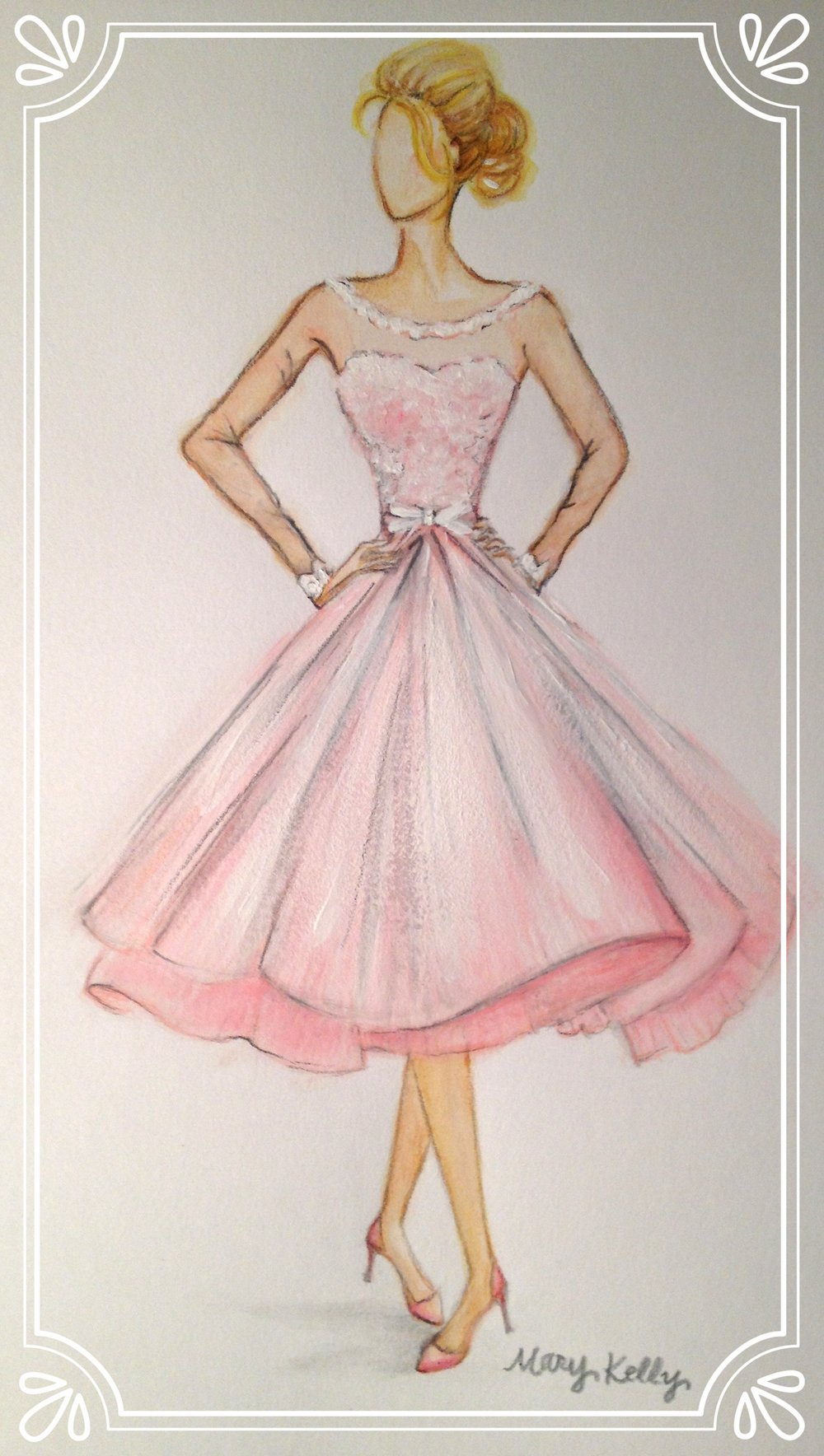 short pink dress, mary kelly designs © 2017