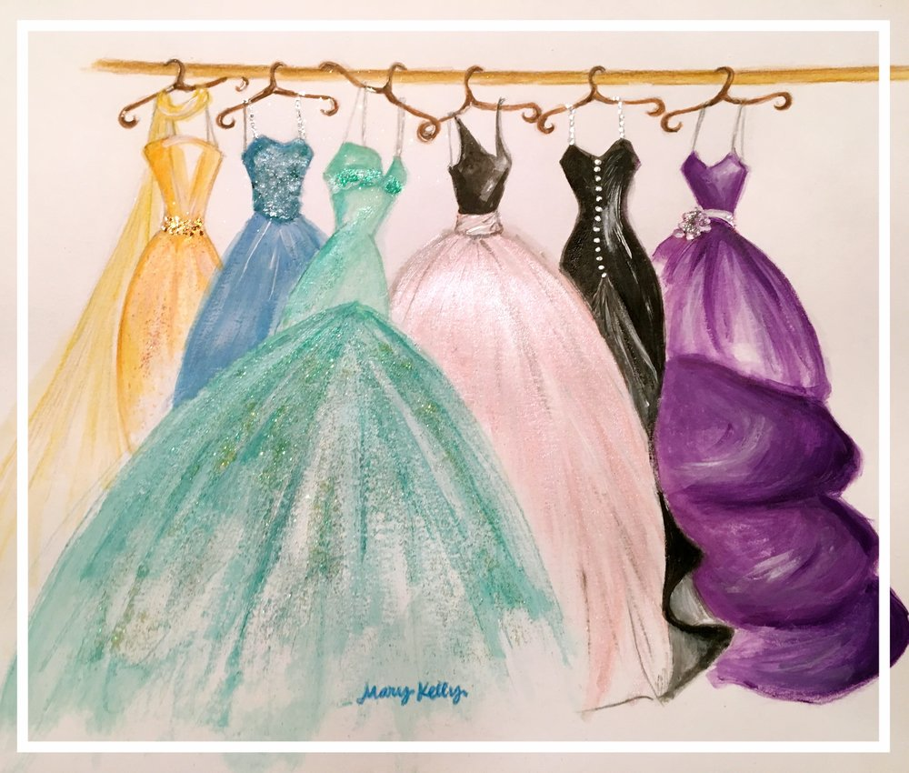 closet of dresses, mary kelly designs © 2017