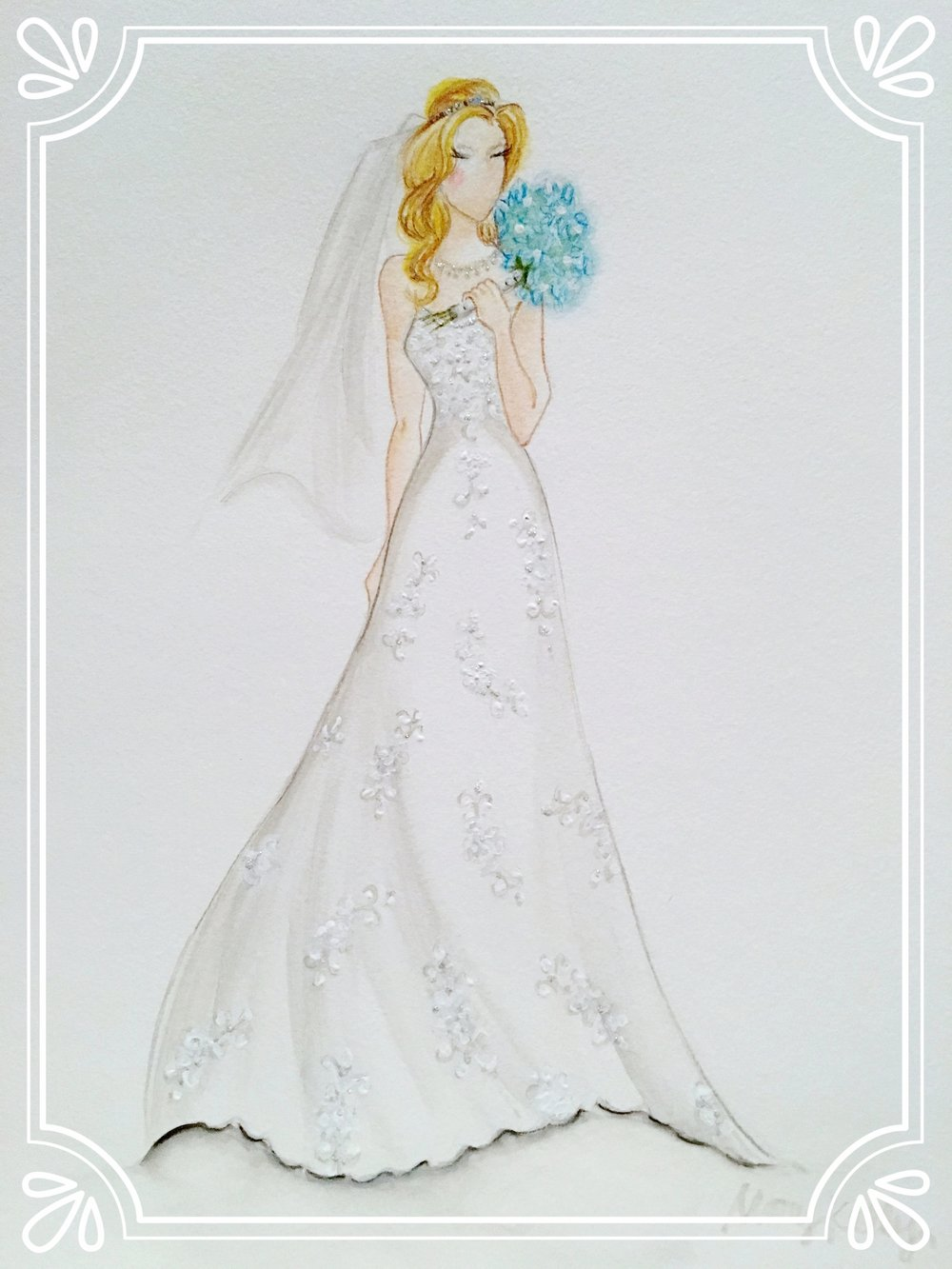NEW! mary's wedding gown, mary kelly designs © 2018