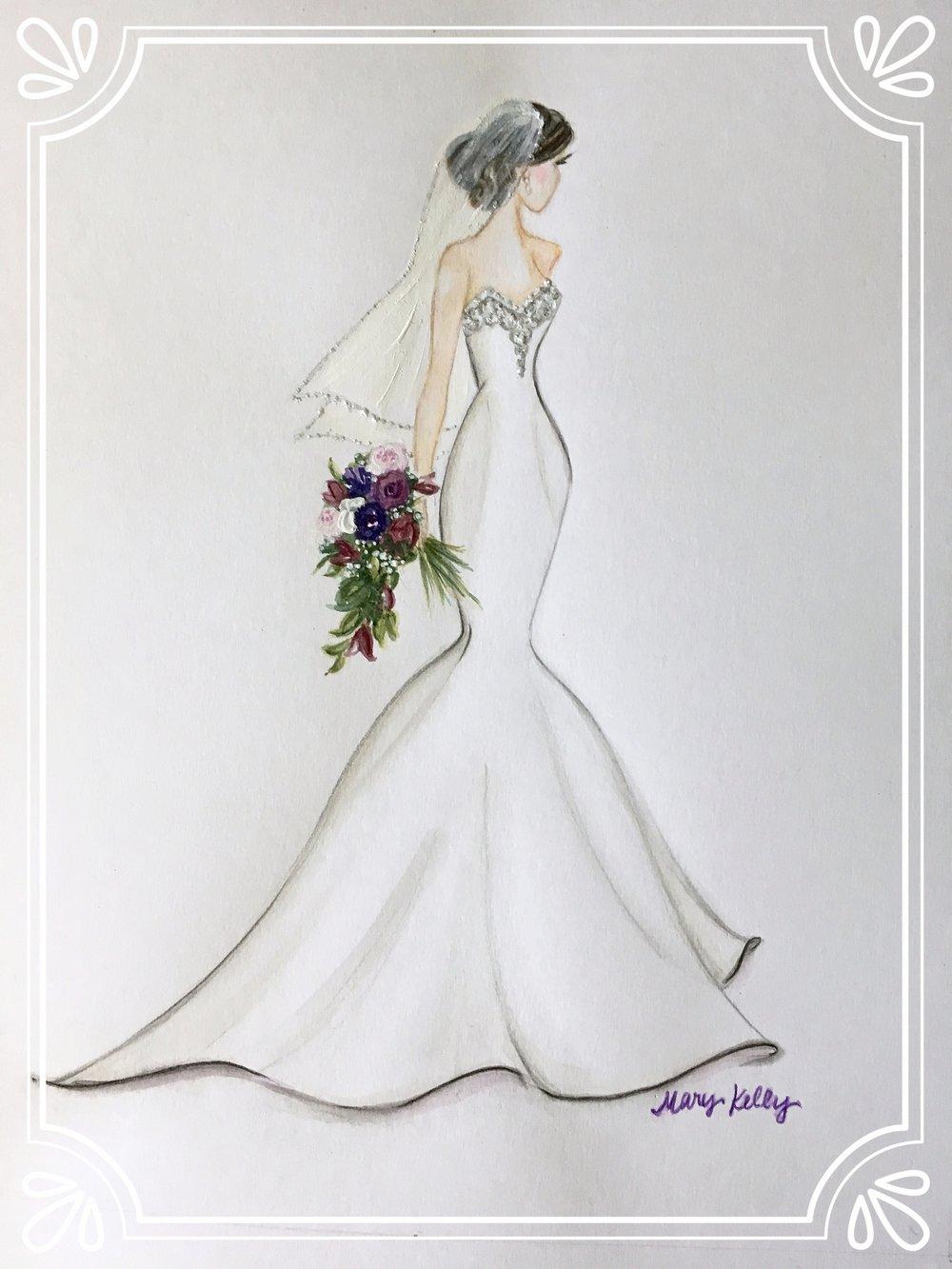 alexa's wedding gown, mary kelly designs © 2018