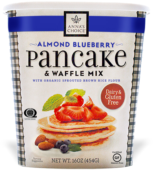 Anna's Choice Almond Blueberry Pancake Mix - Dairy & Gluten Free