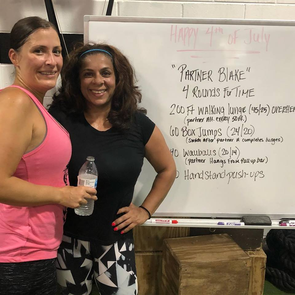 Sandaly & Christy post 4th of July Partner WOD