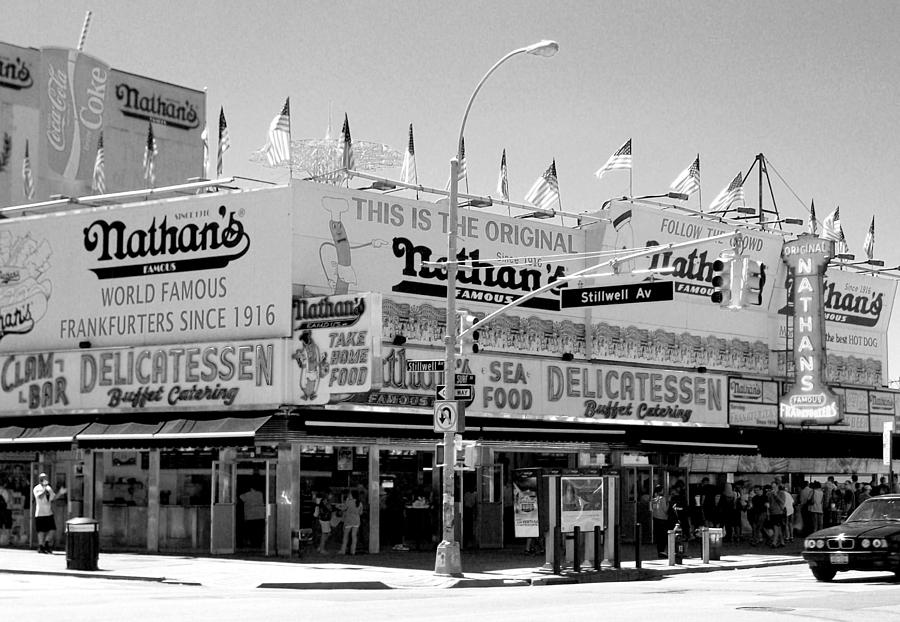 Nathan's Famous Restaurant - Brooklyn, NY                                                                                      Photograph courtesy of Nathan's Famous