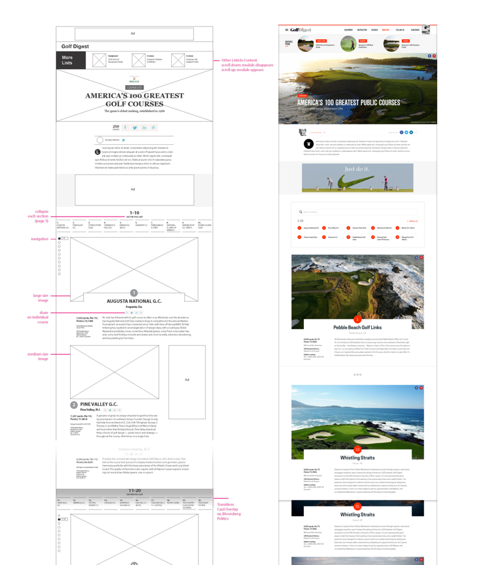 Long-form Template UX