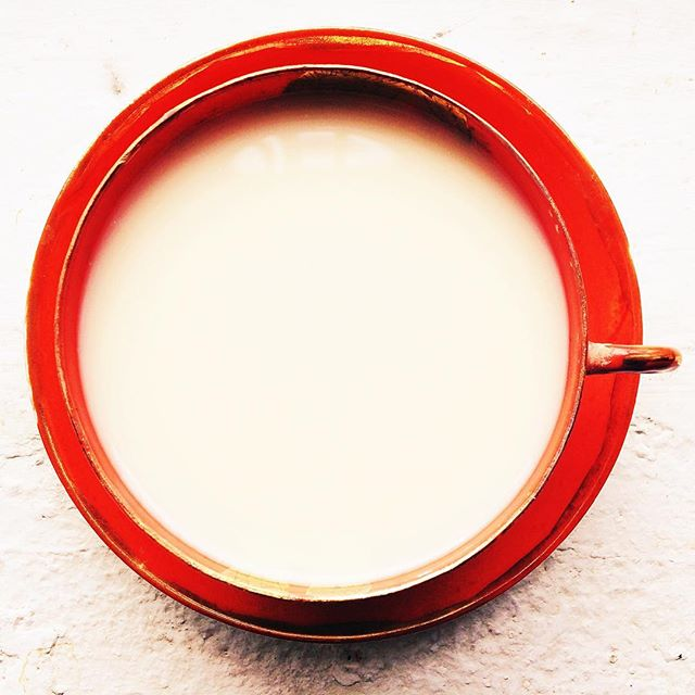 Chai in a red teacup. #brooklynstyle