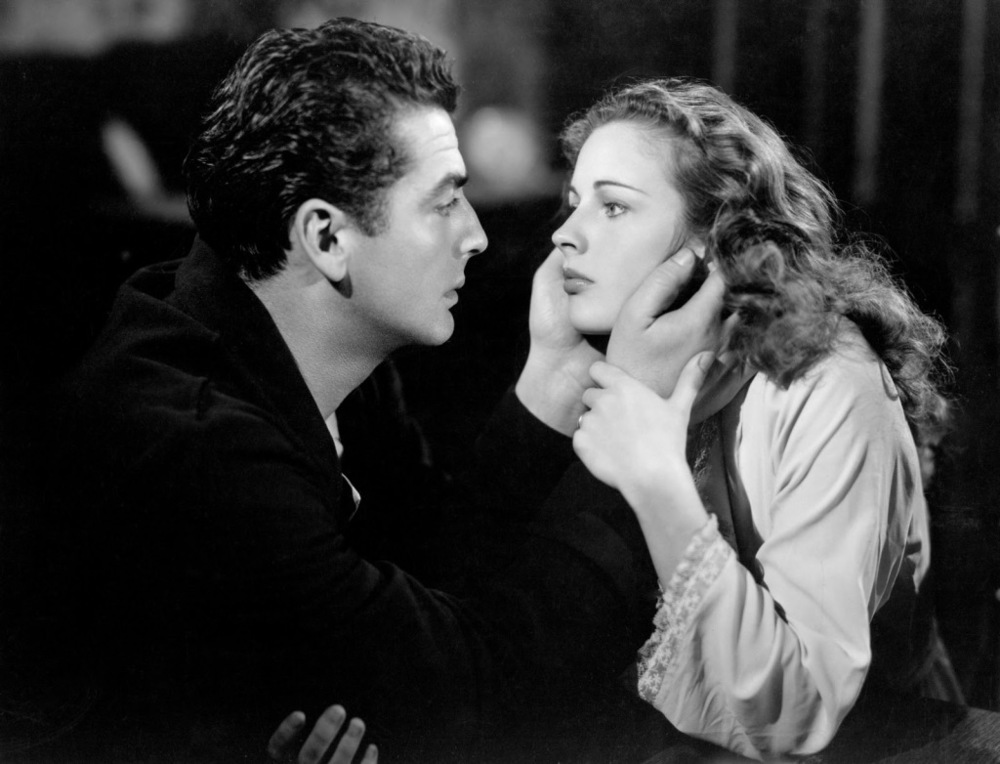 Coleen with Victor Mature in Kiss of Death (1947)