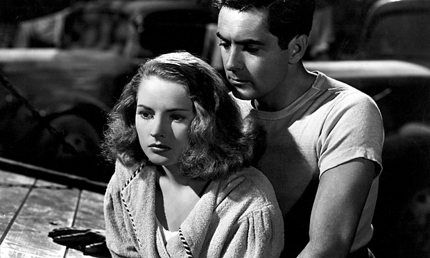 with Tyrone Power in Nightmare Alley (1947)