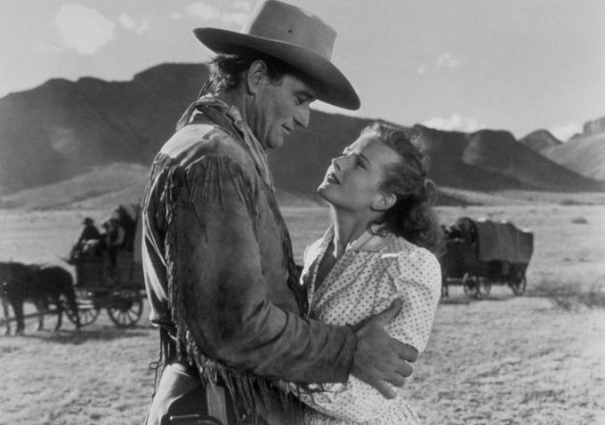 with John Wayne in   Red River   (1948)