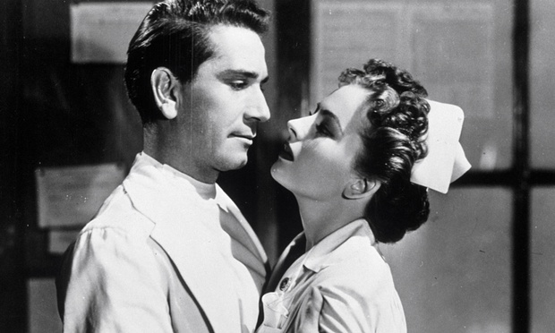 with Richard Conte in The Sleeping City (1950)